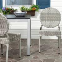 Safavieh Rural Woven Dining Valdez Grey Indoor Outdoor Stackable Dining Chairs (Set of 2)