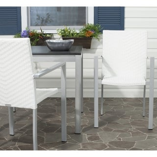 Safavieh Rural Woven Dining Cordova Off White Indoor Outdoor Stackable Arm Chairs (Set of 2)