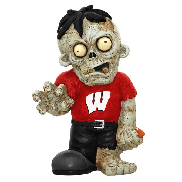 Forever Collectibles NCAA Wisconsin Badgers 9-inch Resin Zombie Figurine