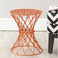 Safavieh Charlotte Orange Iron Wire Stool