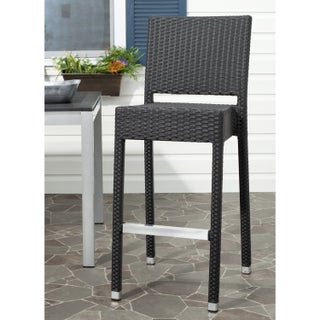 Safavieh 29.5-inch Bethel Black Indoor/Outdoor Bar Stool