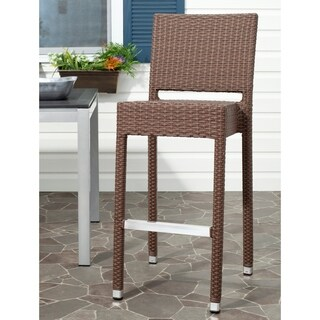 Safavieh 29.5-inch Bethel Brown Indoor/Outdoor Bar Stool