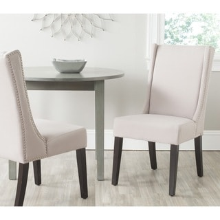 Safavieh En Vogue Dining Sher Taupe Linen Fabric Side Chairs (Set of 2)