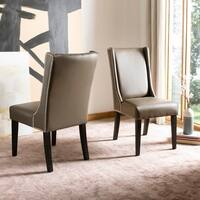 Safavieh En Vogue Dining Sher Clay Bi-Cast Leather Dining Chairs (Set of 2)