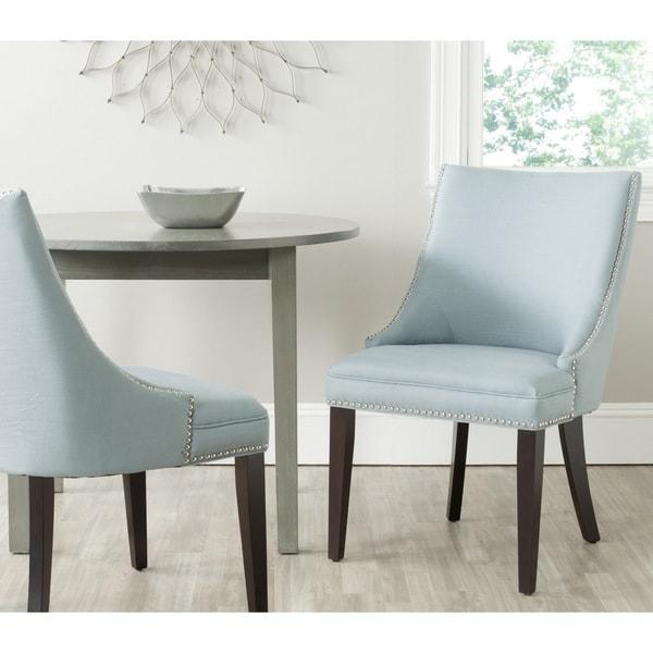 Safavieh En Vogue Dining Afton Light Blue Dining Chairs (Set of 2)