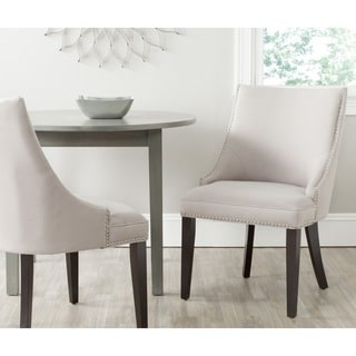 Safavieh En Vogue Dining Afton Taupe Linen Fabric Side Chairs (Set of 2)