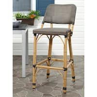 "Safavieh Deltana Brown 30-inch Bar Stool - 17"" x 20"" x 41.3"""