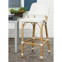Safavieh Deltana White 30-inch Bar Stool