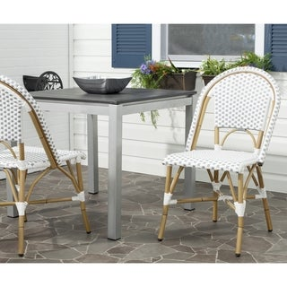 Salcha Grey/ White Indoor Outdoor Stackable Side Chair (Set of 2)