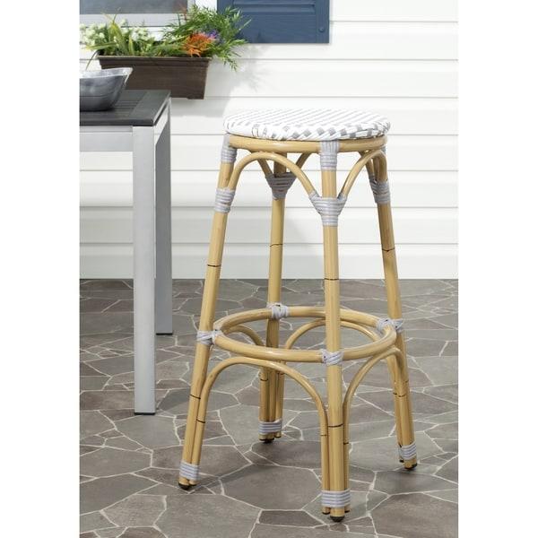 Safavieh Kipnuk Grey/ White Indoor Outdoor Stool