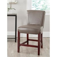 Safavieh 23.8-inch Ken Clay Leather Counter Stool