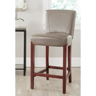 Safavieh Ken Clay Bi-cast Leather Bar Stool 30-inch