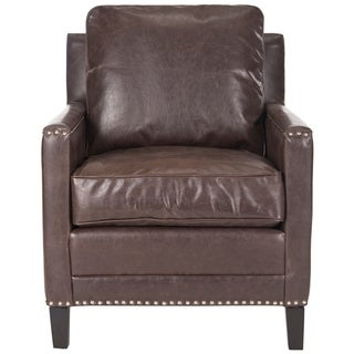 Safavieh Buckler Antique Brown Club Chair