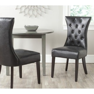 Safavieh En Vogue Dining Columbo Antique BlackDining Chairs (Set of 2)