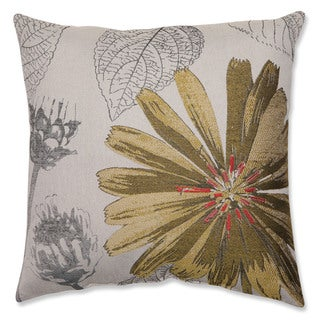 Yellow Daisy 18-inch Throw Pillow
