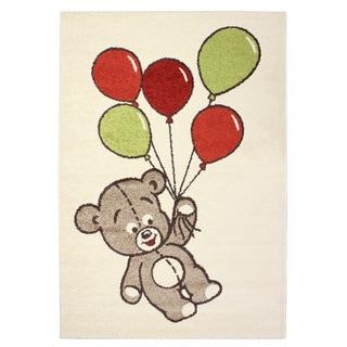 Magic Balloon Bear Beige Area Rug (3'11 x 5'7)