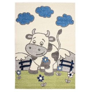 Magic Happy Cow Beige Area Rug (3'11 x 5'7)