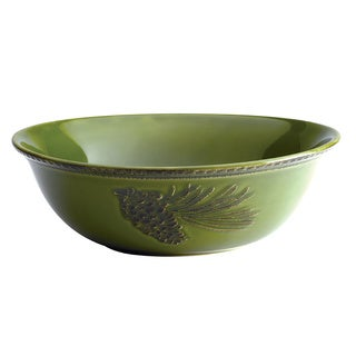 Paula Deen Green Southern Pine Round Serving Bowl