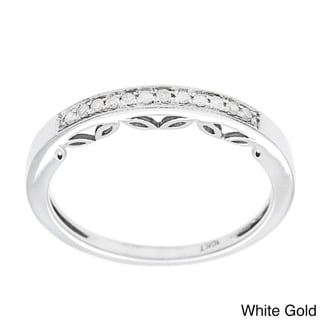 10k Gold 1/5ct Vintage Style Diamond Band