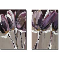 Angela Maritz 'Aubergine Splendor I and II' 2-piece Canvas Art Set