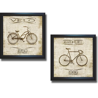 SD Graphics 'Classic Bicycle Collection' 2-piece Framed Canvas Art Set