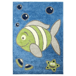 shop magic under the sea rug blue area rug 3 39 11 x 5 39 7 free shipping today overstock 8540773. Black Bedroom Furniture Sets. Home Design Ideas