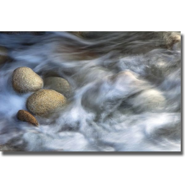 Xavier Ortega 'Stones and Waves' Canvas Art - Stones And Waves