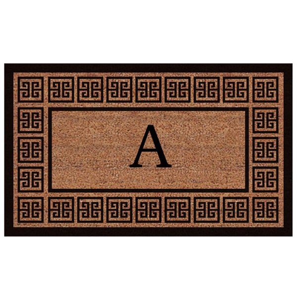 The Grecian Extra-thick Monogrammed Doormat (2' x 3') - 2' x 3'
