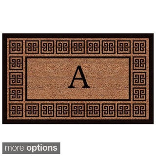 The Grecian Extra-thick Monogrammed Doormat (2' x 3')