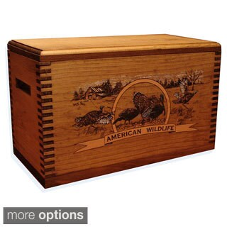 Wild Turkey Print Wooden Accessory Case