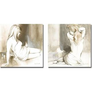 Lanie Loreth 'Sketched Waking Woman I and II' 2-piece Canvas Art Set