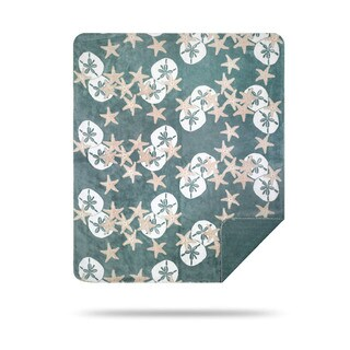 Denali Starfish and Sand Dollars Light Marine Throw Blanket