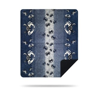 Denali Atlantic Blue Sand Crabs Lapis Throw Blanket
