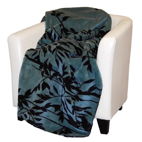 Denali Black and Blue Branches Throw Blanket