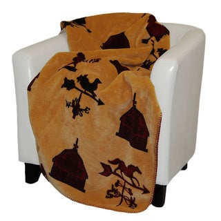 Denali Merlot Weather Vanes Throw Blanket