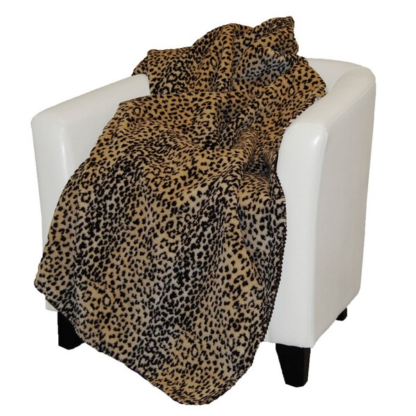 Denali Black and Brown Leopard Print Throw Blanket