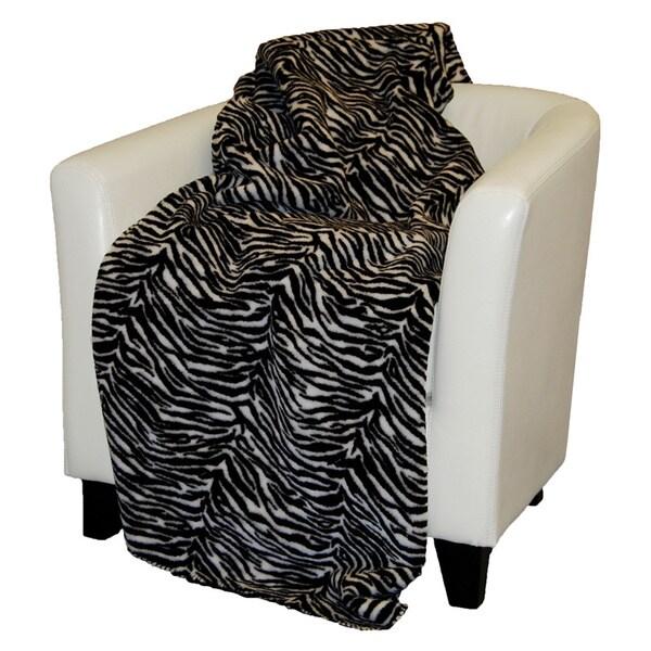 Denali Black and White Zebra Throw Blanket