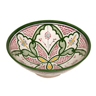 Handmade Ceramic Bowls Moroccan Handmade Serving Exquisite Piece with Vivid Colors (Morocco)