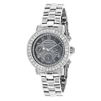 Luxurman Watches: Ladies Diamond Watch 3ct Black