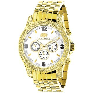 Luxurman Men's 1/2ct Diamond Chronograph Watch