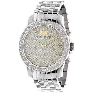 Luxurman Men's 1/4 ct Diamond Watch