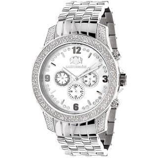 Luxurman Men's Diamond 0.50ct Stainless Steel Watch