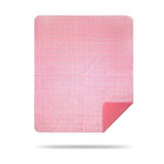 Denali Light Pink and White Gingham Throw Blanket