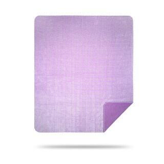 Denali Light Lilac Gingham Throw Blanket