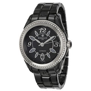 Perrelet Women's 'Classic Eve' Stainless Steel Ceramic Automatic Watch