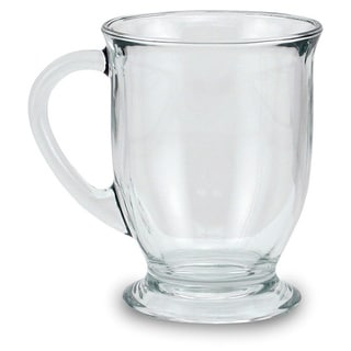 Clear 16 Ounces Glass Mugs (Set of 4)