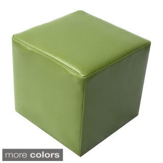 Bonded Leather Cube Contemporary Ottoman