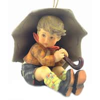 M I Hummel Umbrella Boy Ornament