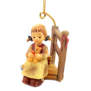 M I Hummel Wishes Come True Girl Ornament