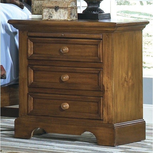 Greyson living rustic escape 3 drawer nightstand free for Furniture of america hilande rustic farmhouse dark walnut bed